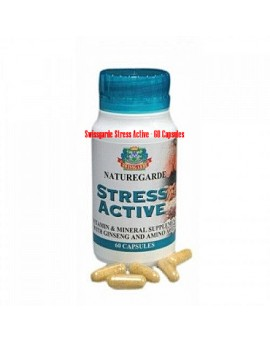 Swissgarde Stress Active - 60 Capsules( RELIEF FROM PHYSICAL AND MENTAL STRESS)-08060498353